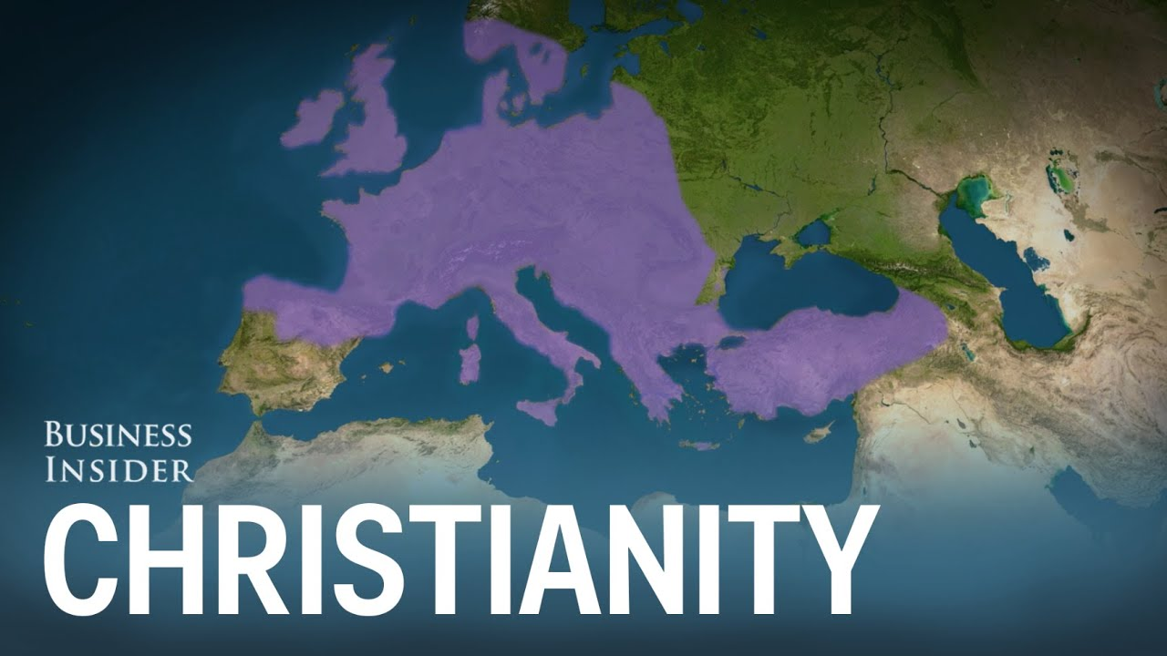 Animated map shows how Christianity spread around the world - YouTube