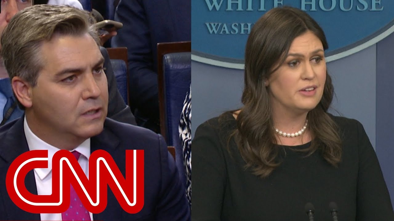 Sanders insults CNN reporter at White House briefing