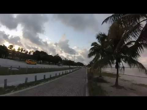 Run around Miami and Key Biscayne with GoPro