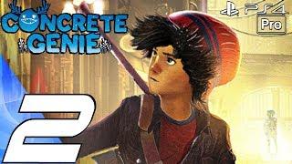 CONCRETE GENIE - Gameplay Walkthrough Part 2 - Underground Sewers (Full Game) PS4 PRO