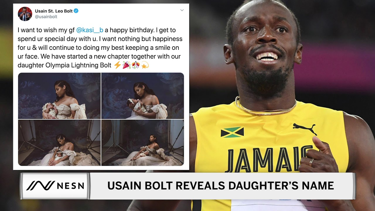 Usain Bolt and His Girlfriend Reveal Their Daughters Name