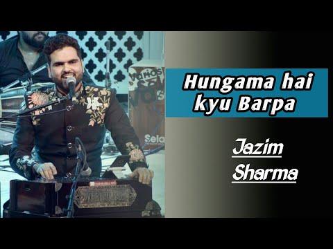 Jazim sharma singing Ghazal live on his wedding party || Hugama hai kyu barpa || Sonu nigam ||