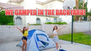 CAMPING IN MY BACKYARD FOR 24 HOURS!