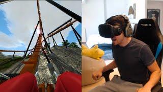 LA MONTAÑA RUSA MÁS ANTIGUA!? No Limits 2 Roller Coaster Simulator (HTC Vive VR)