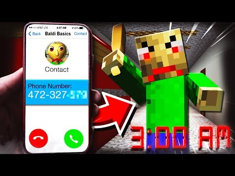 REVEALING BALDI BASIC'S PHONE NUMBER AT 3:00AM **HE'S MAD!**