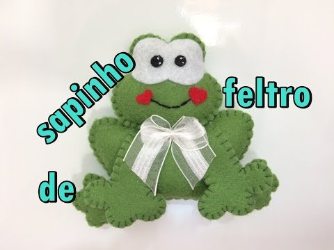 Diy Sapinho De Feltro Para Enfeite íma Chaveiro