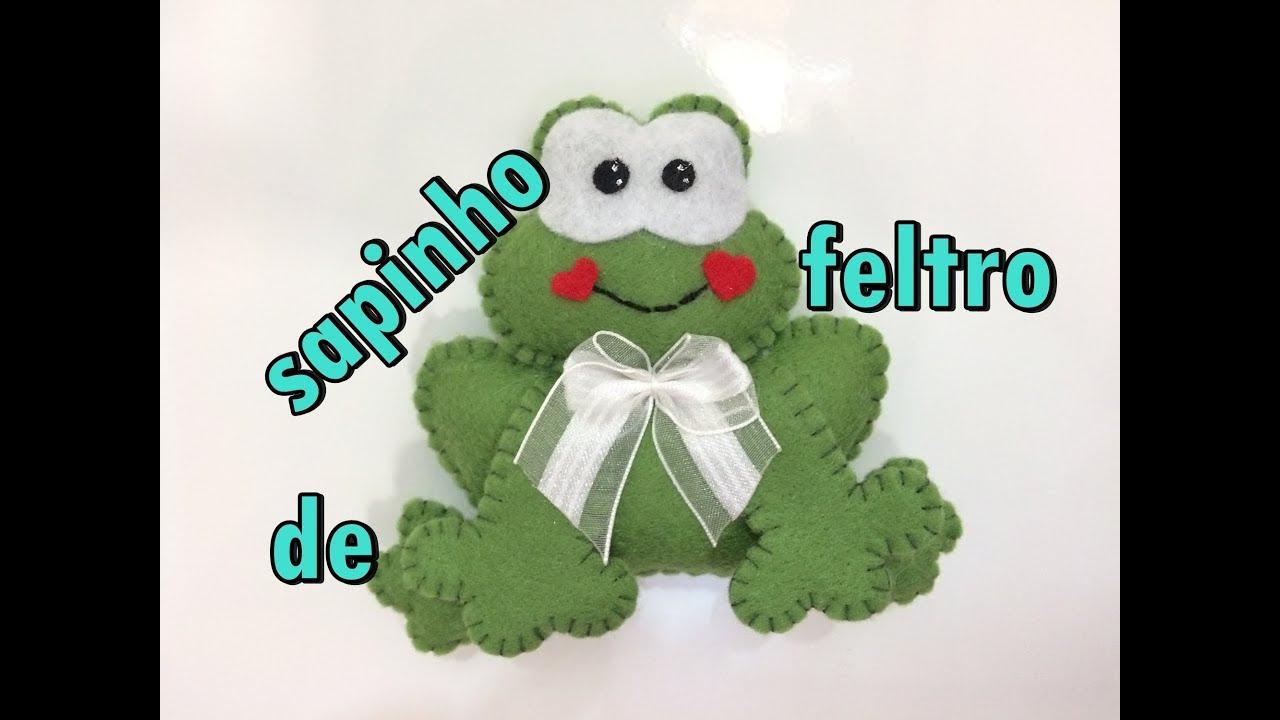 Diy Sapinho De Feltro Para Enfeite íma Chaveiro Lembrancinha Etc