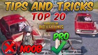 Top 20 Tips and Tricks in PUBG MOBILE for beginners (FROM NOOB TO PRO) GUIDE #2