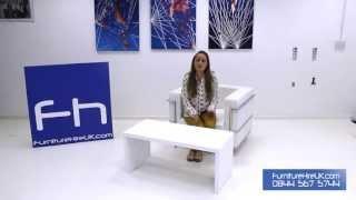 High Gloss White Cofffee Table Demo - Furniture Hire Uk