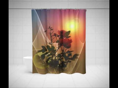 Floral Shower Curtains - Rose Shower Curtain, Tulip, Iris & Other Flower Shower Curtains