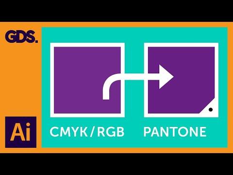 CMYK / RGB to Pantone   Converting colours in Adobe Illustrator