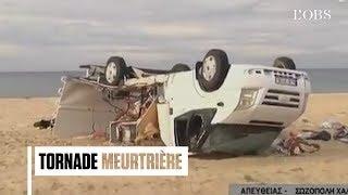 Les images de la tornade meurtrière passée par la Grèce et l'Italie