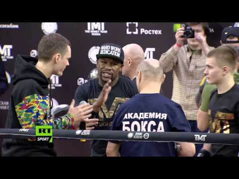 'The Money Tour' in Russia - Floyd Mayweather Jr opens boxing academy in Moscow