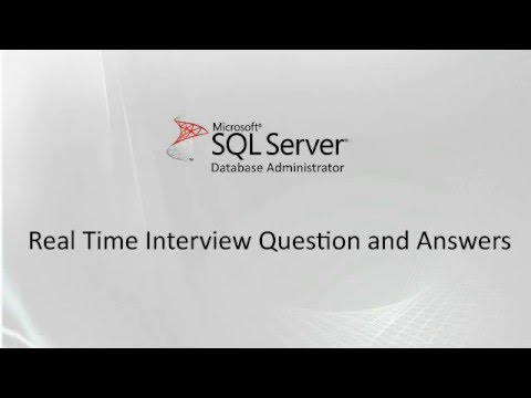 Ms SQL Server DBA experienced interview questions and answers