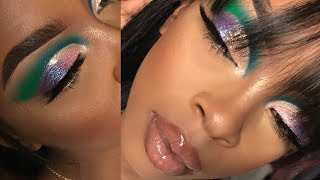 highly requested colorful shimmer eyeshadow tutorial