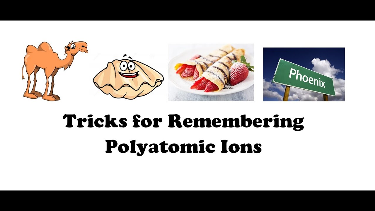 Tricks For Remembering Polyatomic Ions