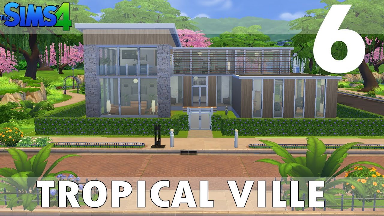 The sims 4 houses 6 tropical modern ville villa for Case the sims 3 arredate