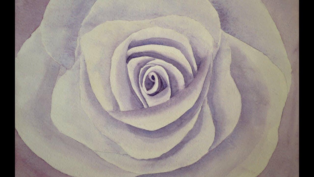Cómo pintar una rosa con acuarela - Arte Divierte. - YouTube