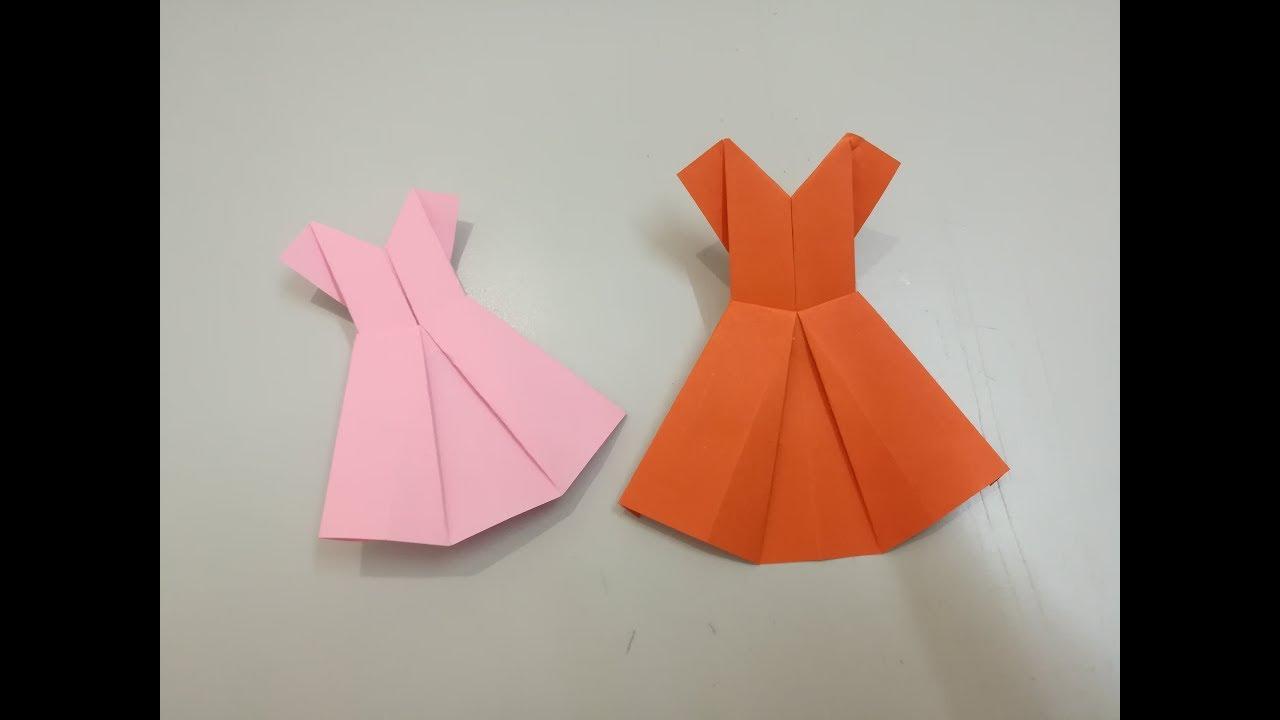 Como Hacer Vestido De Papel Origami Vestido De Papel