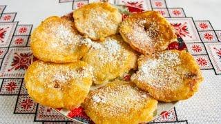 Яблоки в кляре рецепт приготовления Десерт из яблок Яблука в клярі рецепт Что приготовить из яблок