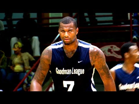 DeMarcus Cousins shows his handle and outside jumper at the Goodman vs Indy Pro Am Game