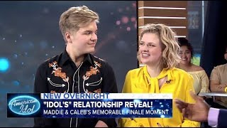 Maddie Poppe & Caleb Lee Hutchinson Reveal When They Started Dating On GMA