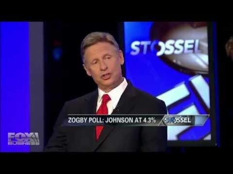 Gary Johnson on Stossel - A Libertarian for President