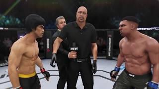 Bruce Lee vs. Mike Tyson (EA sports UFC 3) - CPU vs. CPU