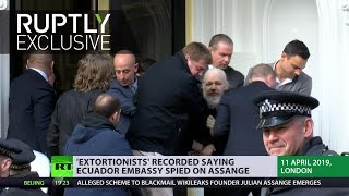 Ecuador embassy spied on Assange – recorded 'extortionists'