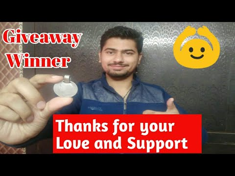 1 Rupees Silver Coin Giveaway Winner Announce | Thanks for your Love and Support.