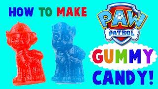 How to Make Paw Patrol Gummy Candy! DIY Easy Tutorial