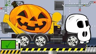 Skeleton Truck | Concrete Mixer Truck Halloween | Toy Factory | Ciężarówka Betoniarka Szkielet