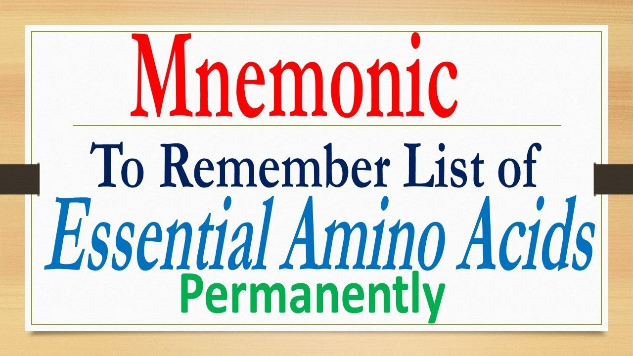 mnemonic to remember essential amino acids youtube