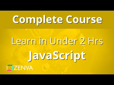COMPLETE COURSE - Learn JavaScript in Under 2 HOURS thumbnail