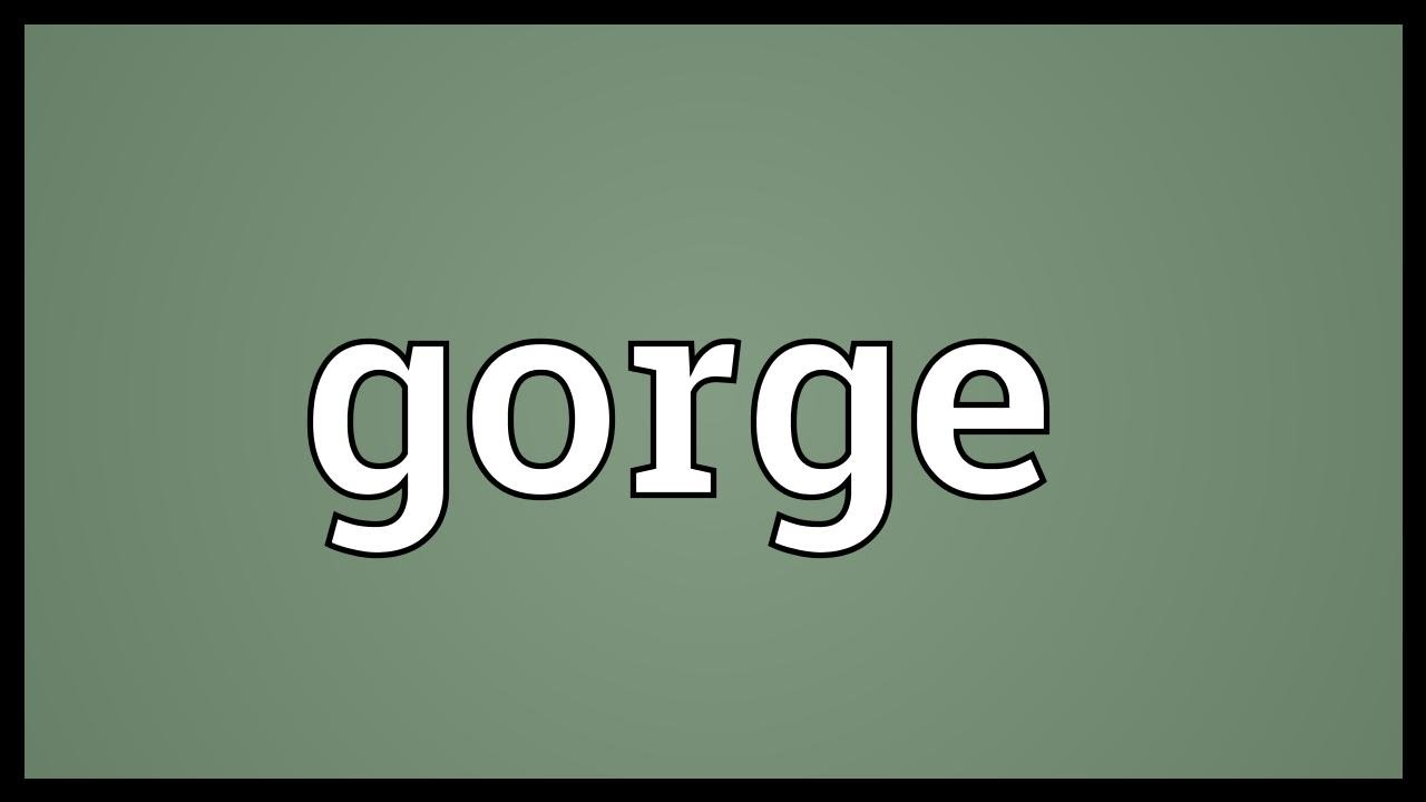 Gorge Meaning