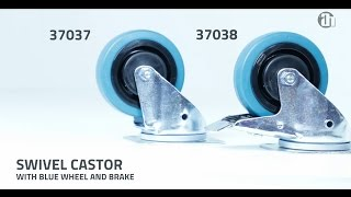 Adam Hall Hardware 37037 and 37038 -  Swivel Castors with directional self-setting feature
