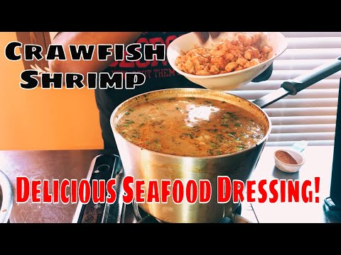 How To Make Shrimp & Crawfish Seafood Cornbread Dressing!