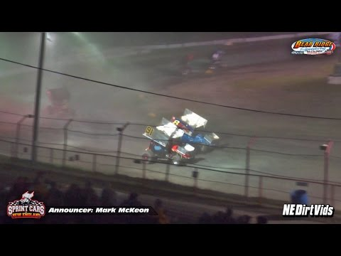 Highlights | Sprint Cars of New England Triple Crown | Bear Ridge Speedway July 4th, 2015