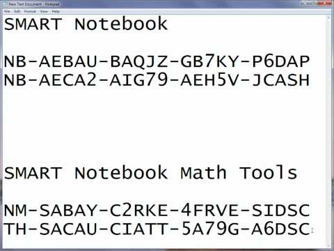 SMART Notebook 10 8 & SMART Notebook Maths Tools Product Key