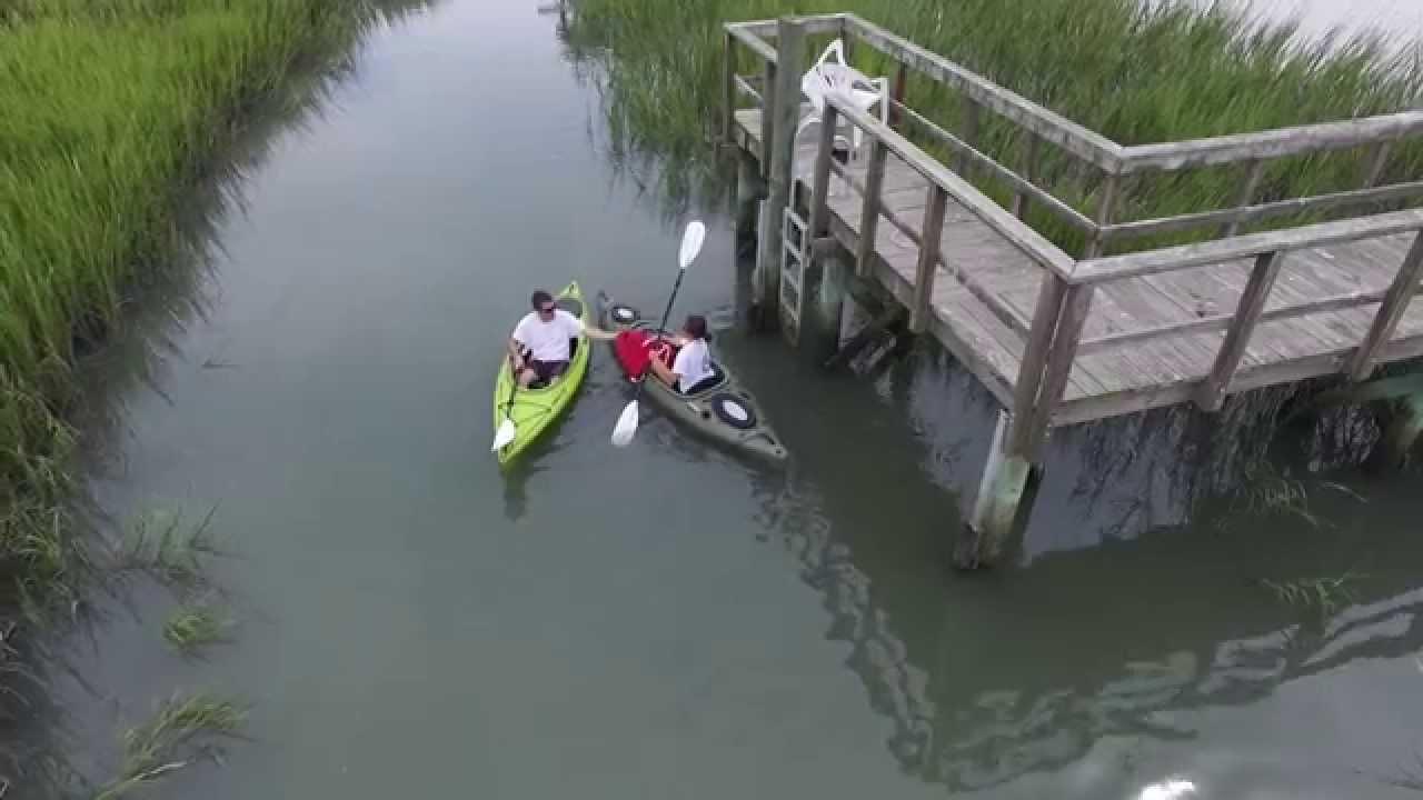 Folly Beach Sc Marsh Kayaking Dji Phantom 3 Pro
