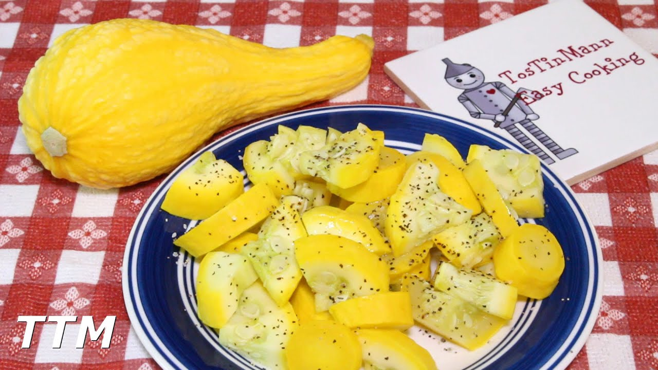 How to Cook Summer Squash~Healthy Steamed Yellow Crookneck ...