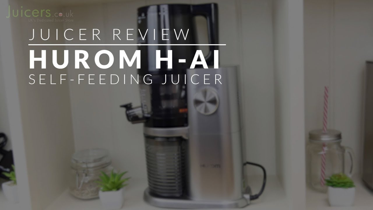Hurom H AI Self Feeding Juicer in Platinum Silver