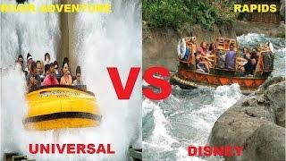 Universal vs Disney World - Kali River Rapids vs. Jurasic Park River Adventure - Best Water Rides