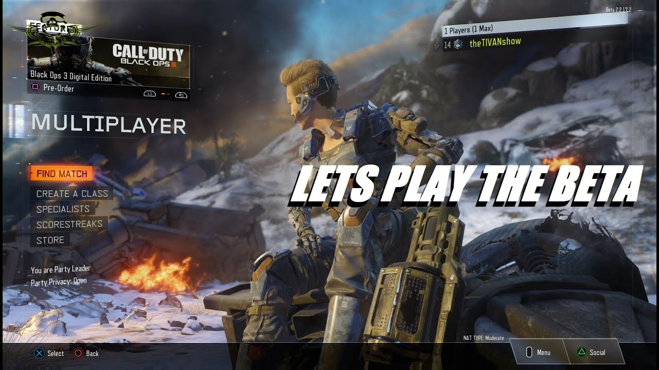 CALL OF DUTY : #BO3BETA - SO FAR ITS AWESOME - PS4 - TRY HARD