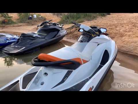 Гидроцикл Sea-Doo GTI 130.Максимальная скорость и разгон.Sea-Doo RXP 260 и 2 лыжника.Карьер Новинка