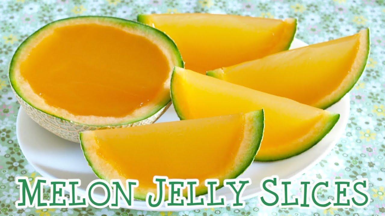 melon jelly slices agar agar recipe まるごとメロン寒天ゼリー
