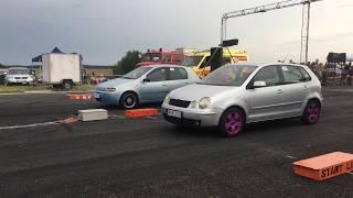 Fiat Punto 1.2 Turbo - VW Polo 1.4 tuning - 1/4 mile drag racing - 1/4 mile Rennen