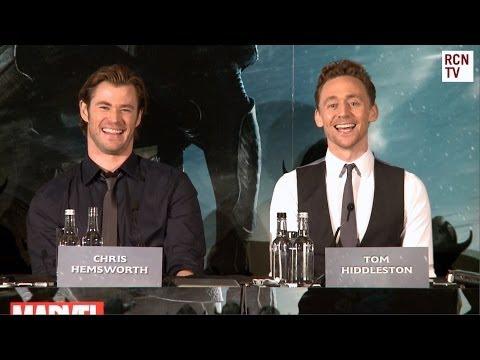 Chris Hemsworth & Tom Hiddleston Interview - Natalie Portman Threesome Thor The Dark World Premiere