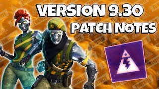 Update : v9.30 Patch Notes | Fortnite Save The World
