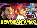 GIGANTAMAX BUTTERFREE IS EPIC! LIVE REACTION to NEW POKEMON in Pokemon Sword and Shield!